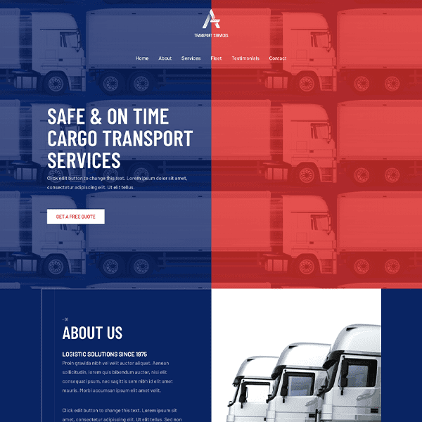 transport-services-business-website